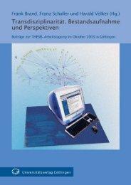 Transdisziplinarität : Bestandsaufnahme und Perspektiven ; Beiträge ...