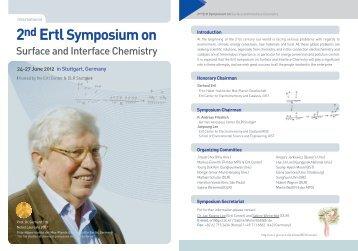2nd Ertl Symposium on