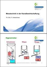 messtechnik kanal (ertl/kretschmer) - H81 Department Wasser ...