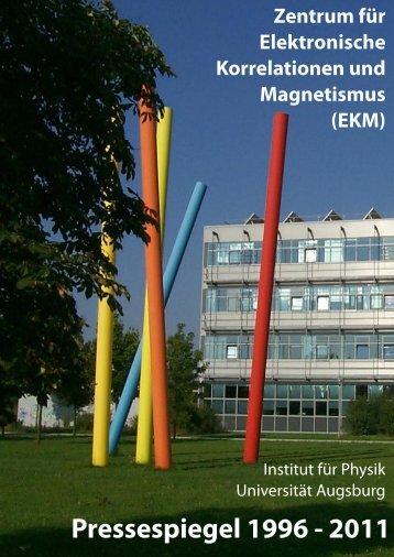 Zentrum für Elektronische Korrelationen und Magnetismus ...