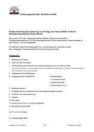 Protokoll der Hauptversammlung 2009 - Schützengesellschaft ...
