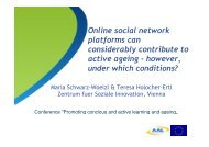 Online social network platforms can considerably contribute to active ...
