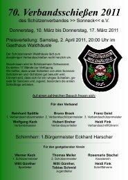 70. Verbandsschießen 2011 - Schützenverein Alttrauchburg