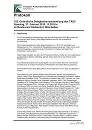 Protokoll TASV Delegiertenversammlung 2010