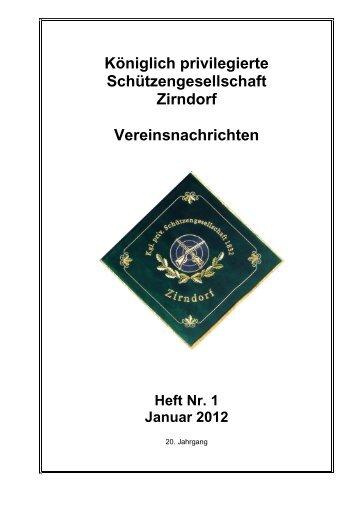 Vereinsnachrichten 1. Quartal 2012