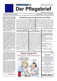 Der Pflegebrief - Ausgabe 03/2011 (Nr. 118) - Pflegen-online.de