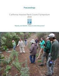 Proceedings California Invasive Plant Council Symposium 2010