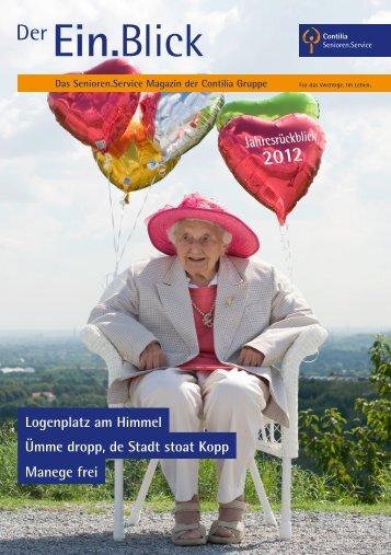 Ein.Blick 2012 - Senioren.Service - Contilia Gruppe