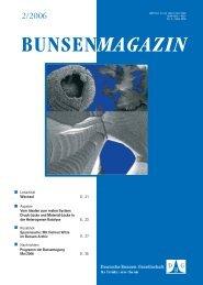 magazin bunsen - Deutsche Bunsengesellschaft für Physikalische ...