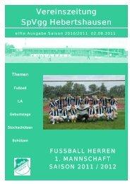 Ausgabe 11 - SpVgg Hebertshausen