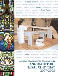 AGC Annual #2 - Academy of Our Lady of Good Counsel High School