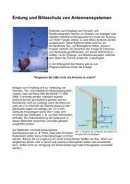 Erdung und Blitzschutz von Antennensystemen