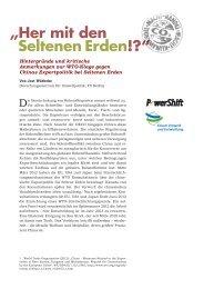 P werShift - Forum Umwelt und Entwicklung