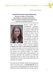 Kompletter Pressetext Lauftreff mit Dr Katrin Esefeld