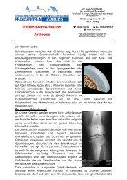 Arthrose Kniegelenk - Praxiszentrum für Chirurgie in Coburg