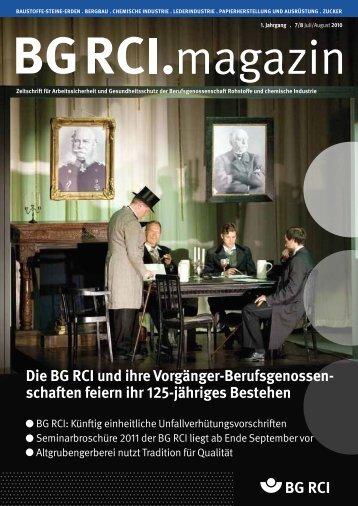 BG RCI Magazin Ausgabe 7/8 2010 - Berufsgenossenschaft ...