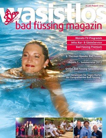 wasistlos badfüssing-magazin - Ausgabe August 2012