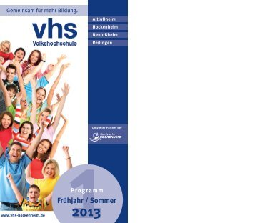 Programmheft 2013-1 - VHS Hockenheim