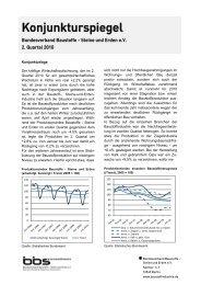 Konjunkturspiegel - Bundesverband Baustoffe - Steine und Erden