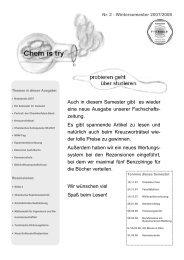 ChemIsTry Ausgabe 2 - Fachschaft Chemie - Universität Paderborn