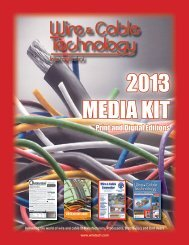 Media Kit - Wire & Cable Technology International Magazine