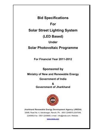 Bid Specifications For Solar Street Lighting System (LED ... - JREDA