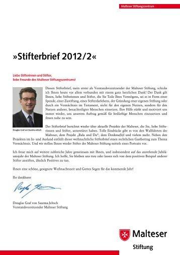 Stifterbrief Nr. 2 in 2012 - Stiftungszentrum