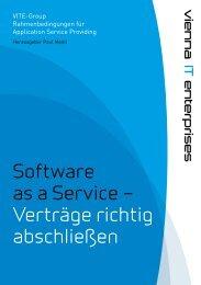 Software as a Service – Verträge richtig abschließen - IT-Cluster Wien