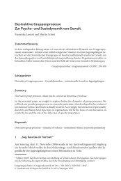 Destruktive Gruppenprozesse Zur Psycho- und Soziodynamik von ...