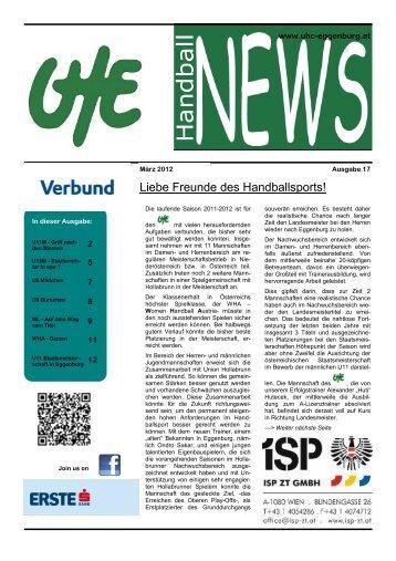 UHE Handball News #17(03/2012) - UHC Eggenburg