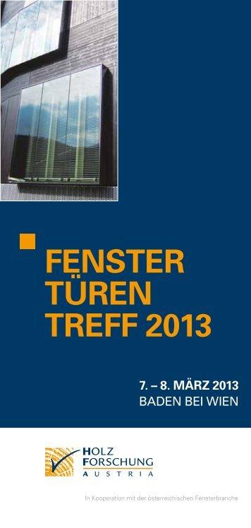 Fenster türen treFF 2013 - proHolz