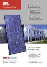 Glas-Folien-Solarmodule - Ertex Solar