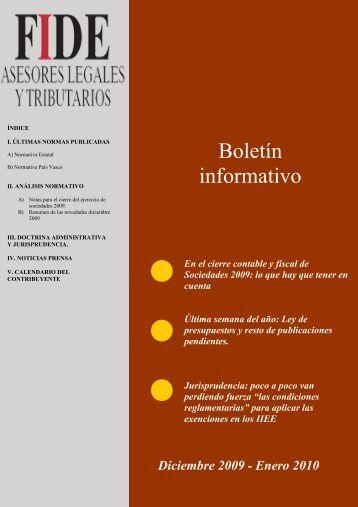 Boletín informativo - FIDE