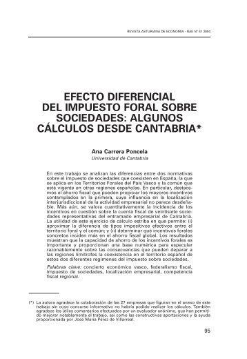 Efecto diferencial del impuesto foral sobre sociedades - Revista ...