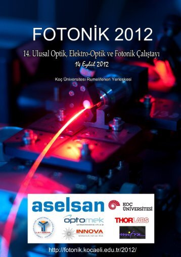 14. Ulusal Optik, Elektro-Optik ve Fotonik - Kocaeli Üniversitesi