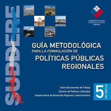 Guía Metodológica para la formulación de políticas públicas - Subdere