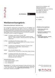 ArchInfo 12/2012 - Kammer der Architekten und Ingenieurkonsulenten