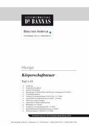 Themenübersicht und Probe - Steuerlehrgänge Dr. Bannas
