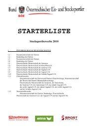 Starterliste Sommer 2010