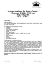 Montageanleitung für Doppel-Carport Douglasie - der Gartenhauspark
