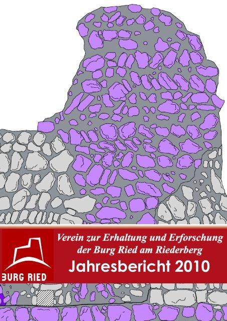 Jahresbericht 2010 - Burgruine Ried