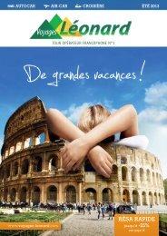 Air/Car & Croisière Eté 2013 - Voyages Léonard
