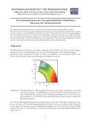 Messung der Sonnenrotation - Kiepenheuer-Institut für Sonnenphysik