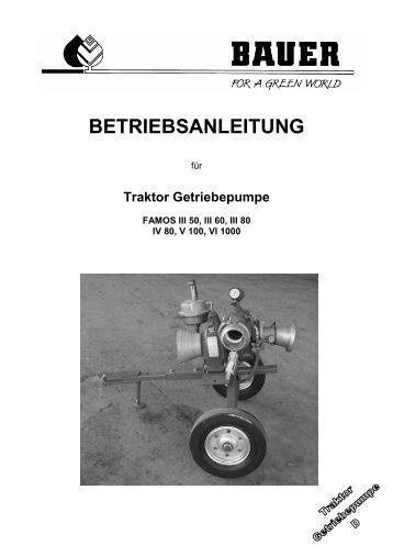 BETRIEBSANLEITUNG - Bauer