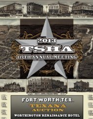 Silent Auction Catalog (pdf) - Texas State Historical Association