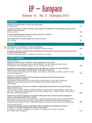 Table of Contents (PDF) - EP Europace
