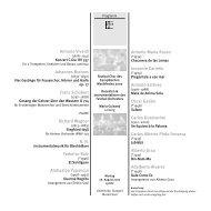 Chamber Music & a- cappella - Festivalensemble Stuttgart