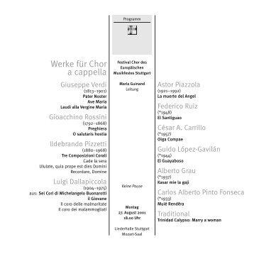 Choir a-cappella - Festivalensemble Stuttgart