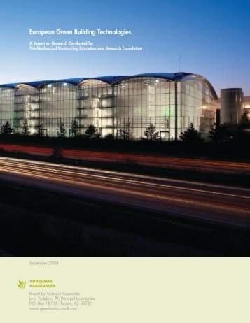 European Green Building Technologies - Green Build Consulting