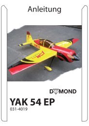 Anleitung zu YAK 54 EP V2 1,95 - Staufenbiel